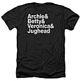 Archie Comics Betty Veronica & Jughead Ampersand List T-Shirt