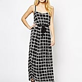The Style maxi dress in grid print (£42)