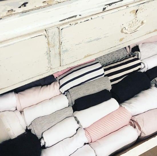 Photos of Marie Kondo's Folding Method