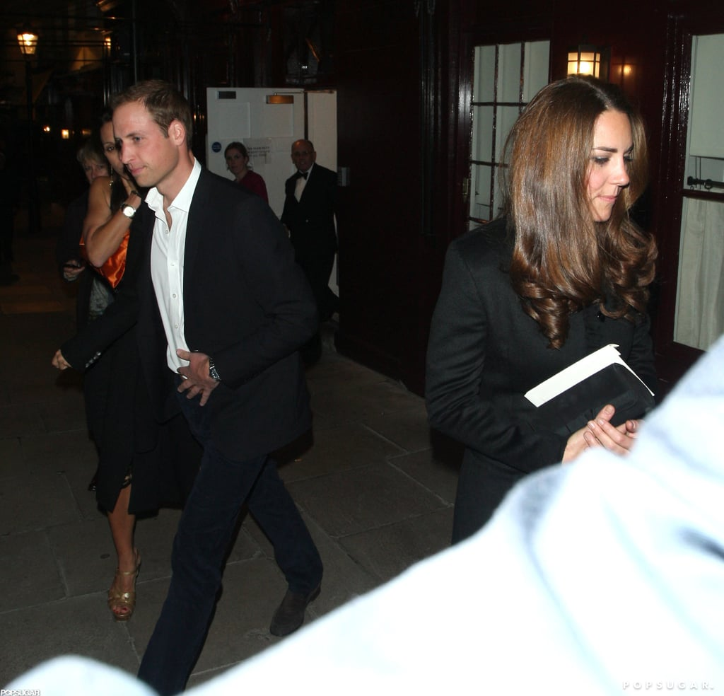 Prince William and Kate Middleton had a night out in London with friends.