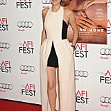 Marion Cotillard rocked a black and white dress on the red carpet.
