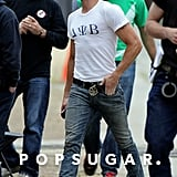 Zac Efron Rocks a Tight T-Shirt and a Tattoo For Townies