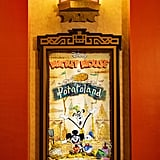 Posters For Original Mickey Shorts Can Be Seen Throughout the Queue