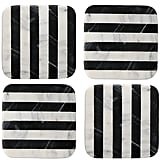 Thirstystone Stripe Square Marble Coasters (Set of 4) ($24)