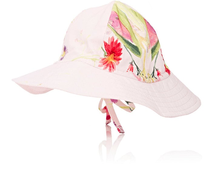 Watercolor Floral Floppy Hat