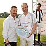 With Prince William at the Audi Polo Challenge in 2016.
