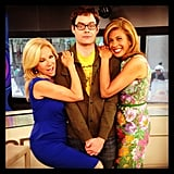 Kathie Lee Gifford and Hoda Kotb couldn't keep their hands off of Bill Hader. Source: Instagram user todayshow