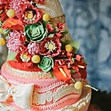 Lace doesn't just belong on wedding dresses or tea-cake doilies. More and more brides are choosing lacy wedding cake designs, whether it's lace piping, fondant appliques, or even edible lace sheets. The results, courtesy of POPSUGAR Food, look almost too dainty to cut into. Photo by Sargeant Creative via Style Me Pretty