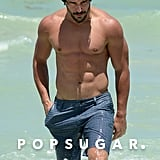 Shirtless Joe Manganiello Brings His Bulging Muscles to Miami Beach
