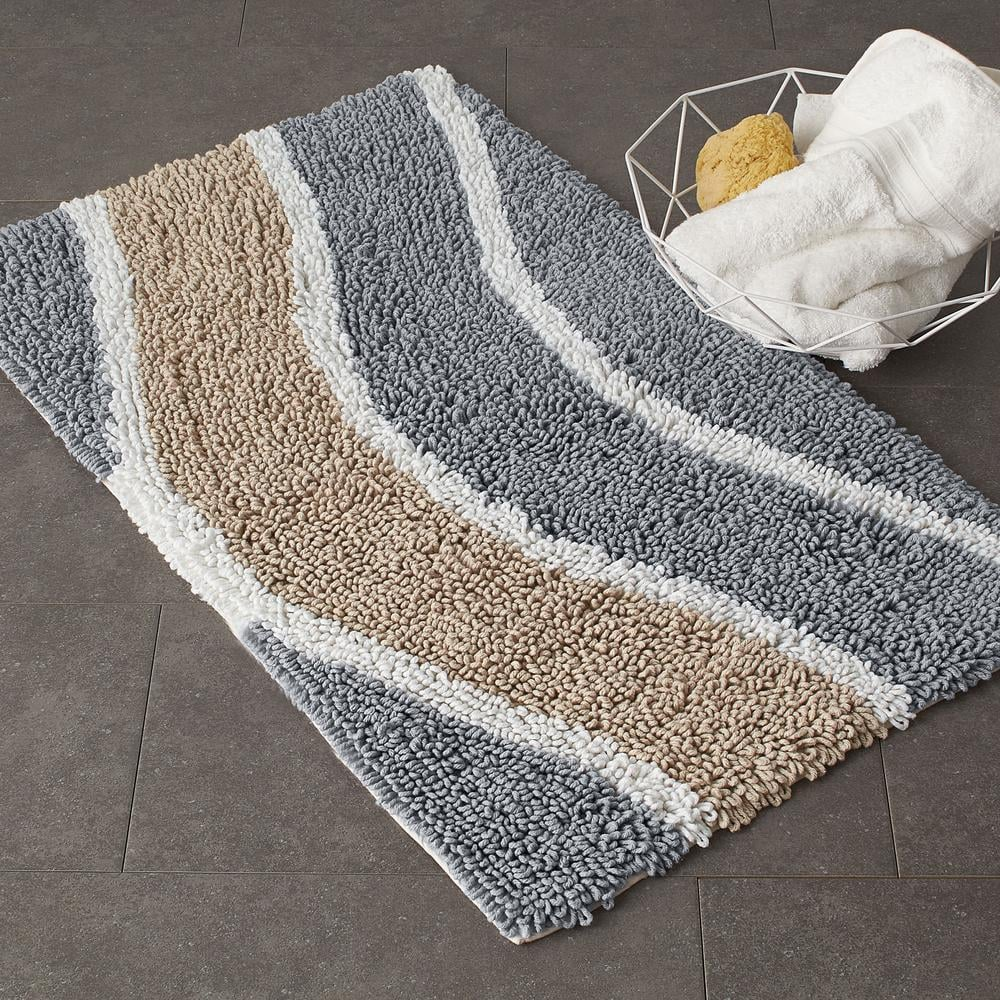 The Company Store Chunky Loop Wavy Natural Cotton Bath Rug