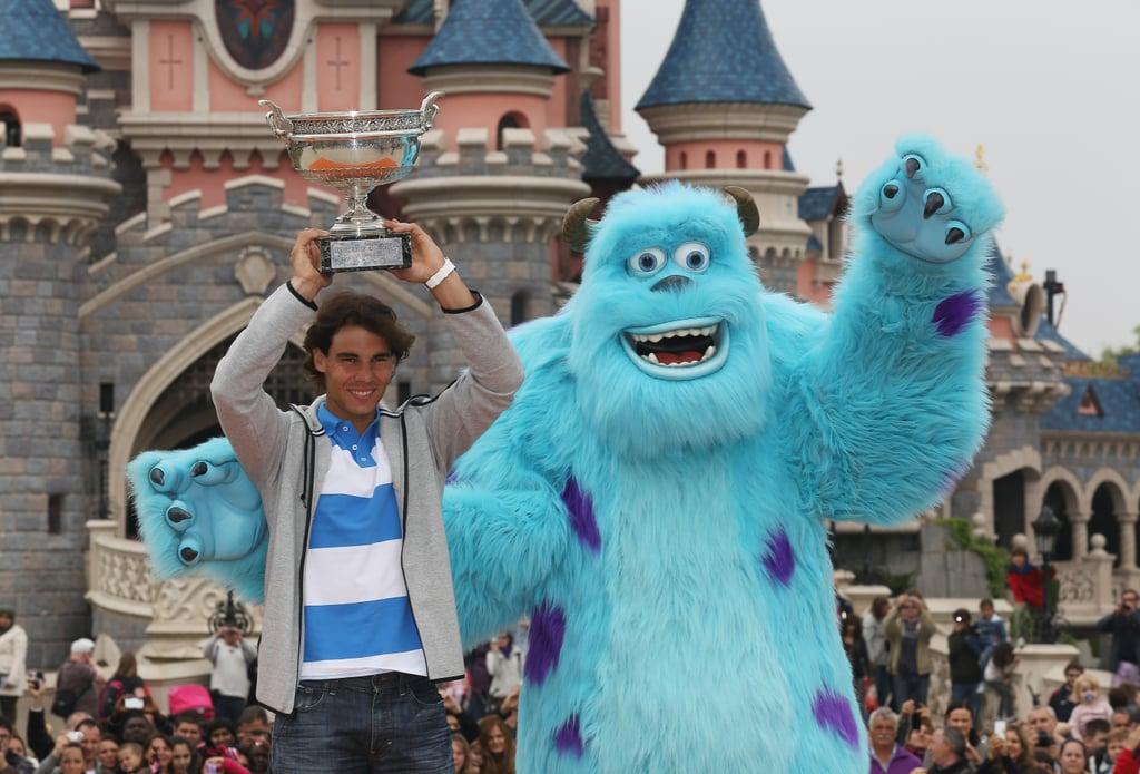 Rafael Nadal celebrated his French Open win at Disneyland in Paris in June 2013.