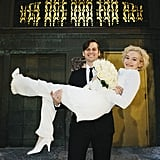 Mark Foster and Julia Garner on Their Wedding Day