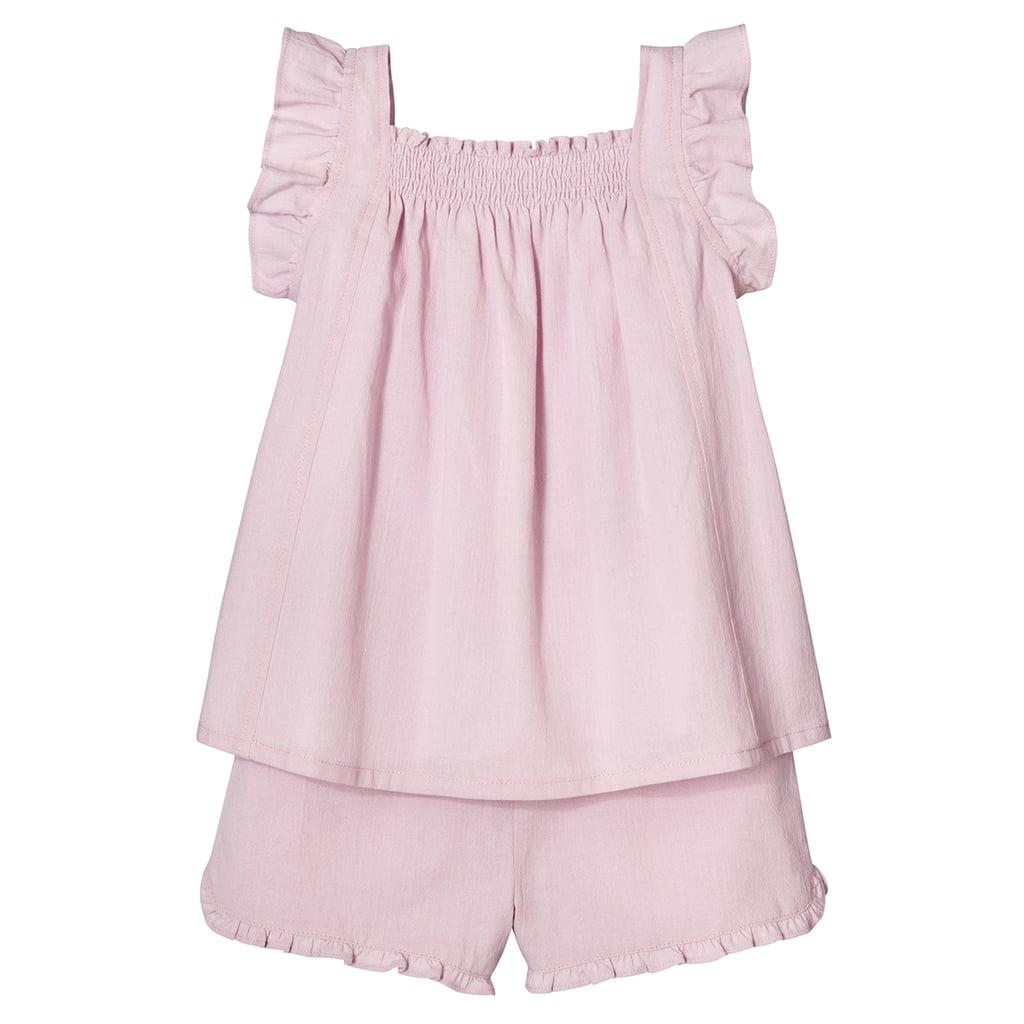 Toddler Girls' Blush Ruffle Trim Tank Top and Short Set ($20)