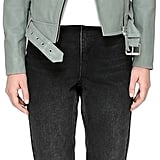 Mackage Hania Biker Style Leather Jacket With Belt In Sage