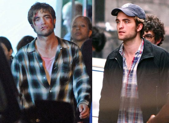 24/6/2009 Robert Pattinson Covered in Blood Filming Remember Me in NYC