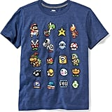 Super Mario 8-Bit Graphic Tee For Boys