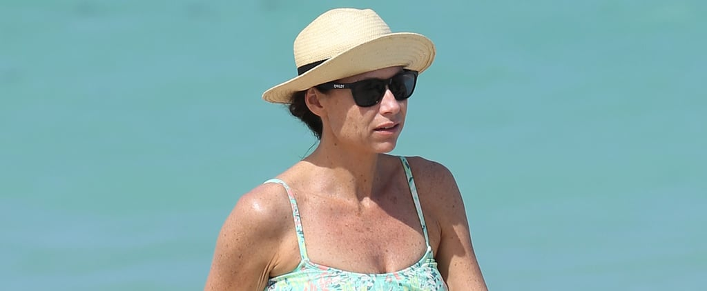 Minnie Driver in Her Bikini in Miami 2014