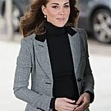 Kate Middleton Smythe Blazer and Skinny Jeans Oct 2018