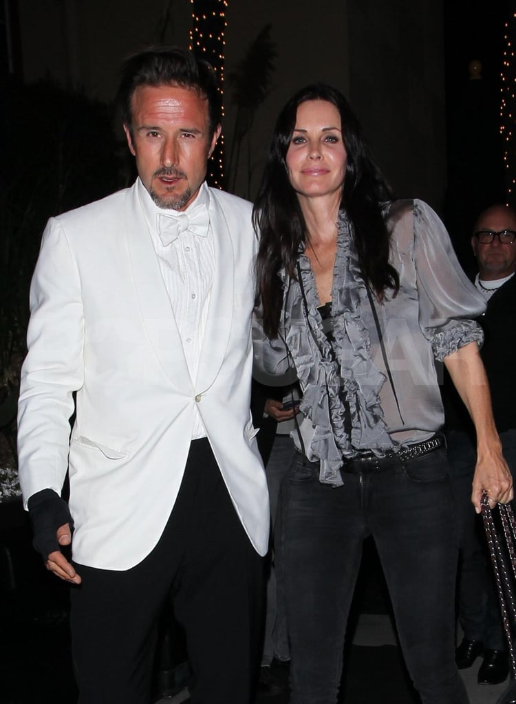 Courteney Cox Supports David Arquette's Latest Madhouse Venture