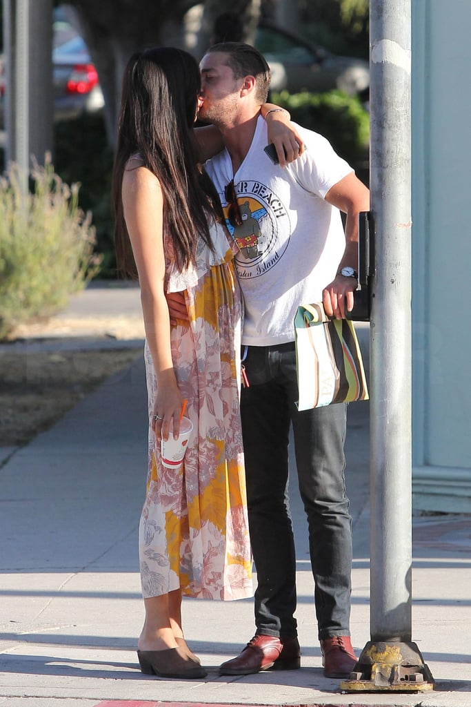 Shia LaBeouf followed up a lunch date at Sweet Butter Cafe in LA yesterday by planting a kiss on his girl. He and his lady friend, who was spotted hanging out with the actor as far back as February, seem to be going strong as Shia enjoys a brief break from big-screen work. He'll be back in action with a big Summer release —check out the new trailer for Transformers: Dark of the Moon, which is out on July 1, shortly after Shia's big 25th birthday in mid-June. Promotion for that movie will see Shia back with Megan Fox's replacement, Victoria's Secret model Rosie Huntington-Whiteley, who was just ranked as the hottest woman alive by Maxim! He recently wrapped up shooting The Wettest County in the World along with costars Tom Hardy and Mia Wasikowska. Shia's also due to be back on set in the coming months in Horns, an adaptation of a book written by Stephen King's son Joe Hill.