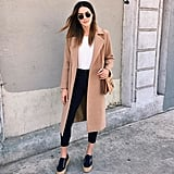 With an Oversize Coat and Platform Sneakers