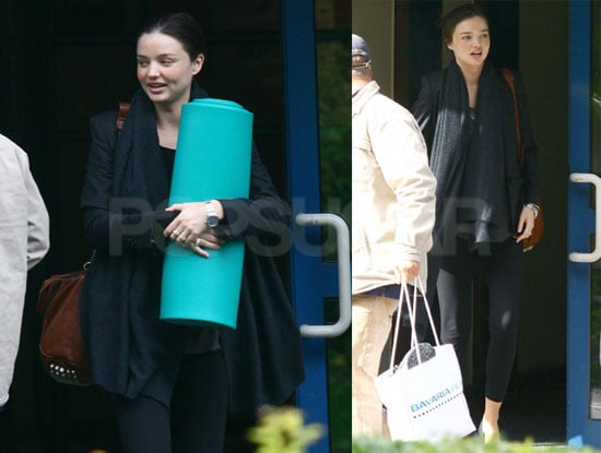 Pictures of Pregnant Miranda Kerr Doing Yoga in Germany