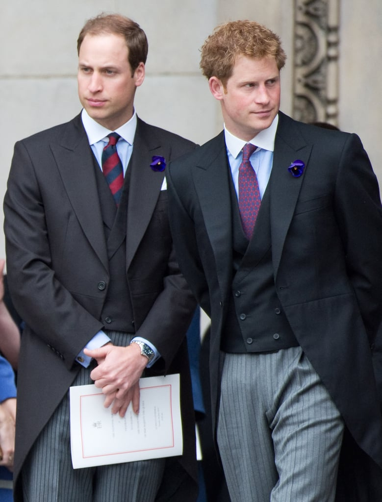 They attended a service of thanksgiving during their grandmother's Diamond Jubilee in June 2012.