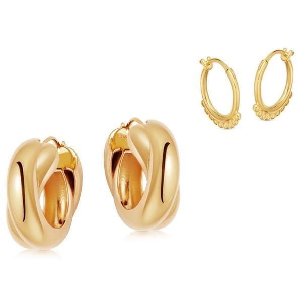 Missoma Gold Chunky Entwine Earring Set