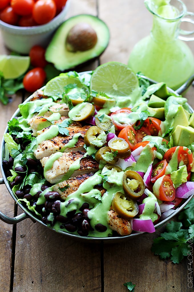 Grilled Chicken Taco Salads With Spicy Cilantro Lime Dressing Best