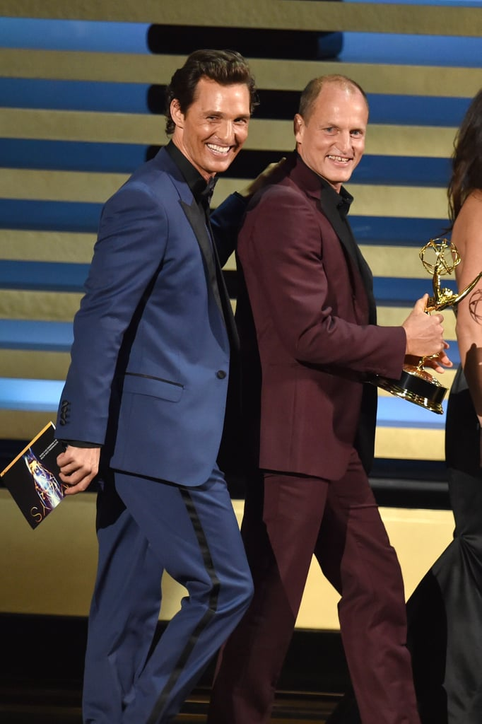 Matthew McConaughey and Woody Harrelson took the stage together.