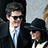 John Mayer and Katy Perry arrived at the presidential inauguration.