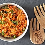 Spicy Sesame Carrot Ribbon Salad