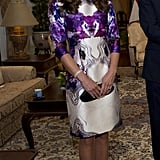 Kate favored local designer Prabal Gurung on her tour of Singapore.