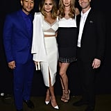 John Legend, Chrissy Teigen, Behati Prinsloo, and Adam Levine hung out backstage.