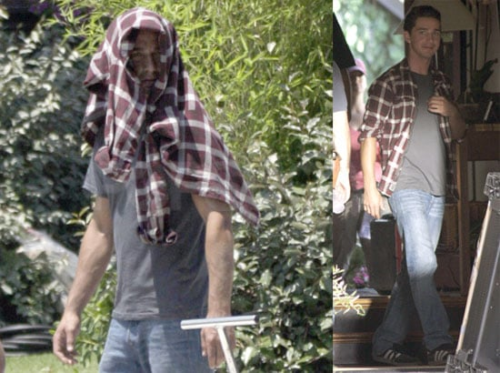Photos of Shia LaBeouf During On Set Fire While Filming Transformers