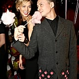 Too sweet! Karlie made sure to try the cotton candy.