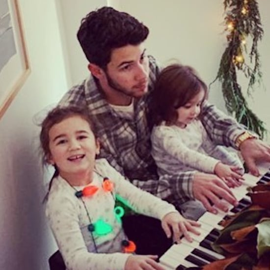 Nick Jonas With Nieces Alena and Valentina Pictures