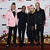 No Doubts, Adrian Young, Tony Kanal, Gwen Stefani and Tom Dumont  posed n the red carpet at the MTV EMAs.