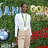 Dalilah Muhammad at the 2020 Gold Meets Golden Party in LA