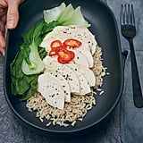 Turmeric Poached Chicken With Brown Rice