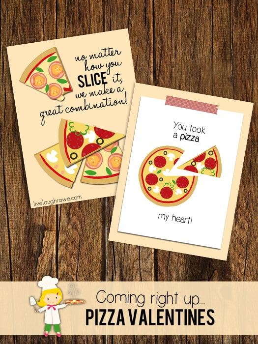 Pizza My Heart Valentine's Printables