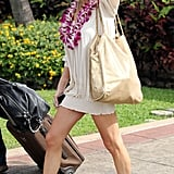 LeAnn and Eddie arrived in Maui together.