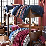 Hogwarts Striped Duvet Cover and Sham (pictured on top bunk, $30 - $199)