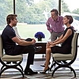 Liam Hemsworth, Gary Oldman, and Embeth Davidtz in Paranoia.