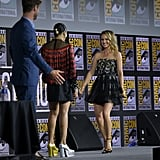 Natalie Portman With Blond Highlights at Comic-Con 2019