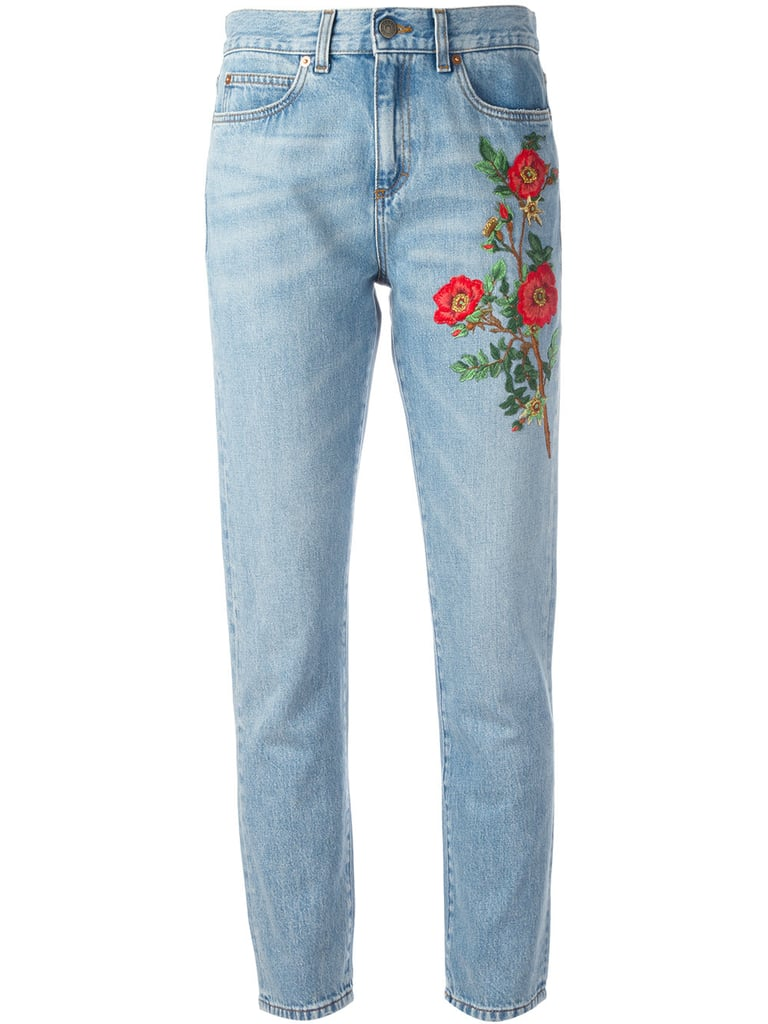 Best embroidered jeans popsugar fashion