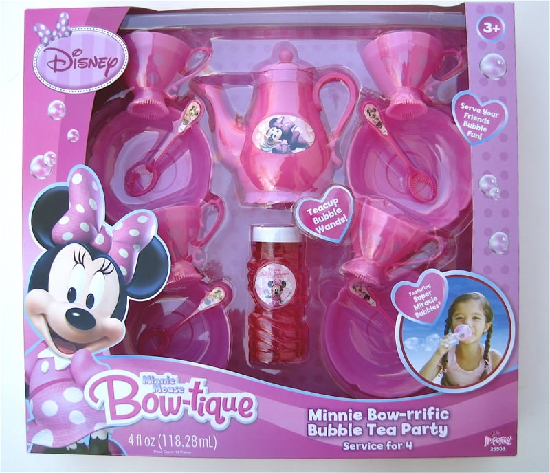 Minnie Bow-riffic Bubble Tea Party Set ($15)