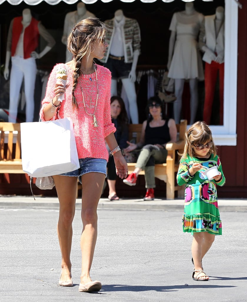 Alessandra Ambrosio and Anja Mazur Stop For a Sweet Treat in LA