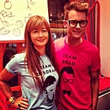 Brad Goreski played Pictionary with Kate Spade's head of design, Deborah Lloyd.  Source: Instagram user katespadeny
