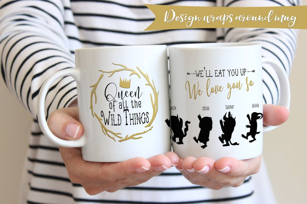 queen of the wild things personalized mug gifts for moms of